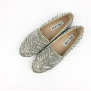 Steve Madden | Concord Pewter Studded Loafers 6.5